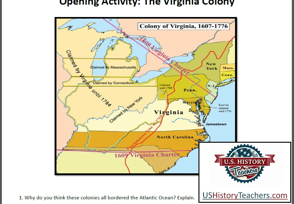 Early American Colonies Lesson Plan Age Of Exploration