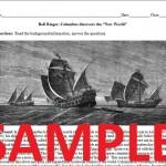 Christopher Columbus Worksheet Sample