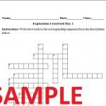 Columbian Exchange Worksheet Crossword Puzzle