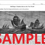 Christopher Columbus Worksheet Sample