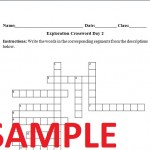 Columbian Exchange Worksheet Crossword Puzzle