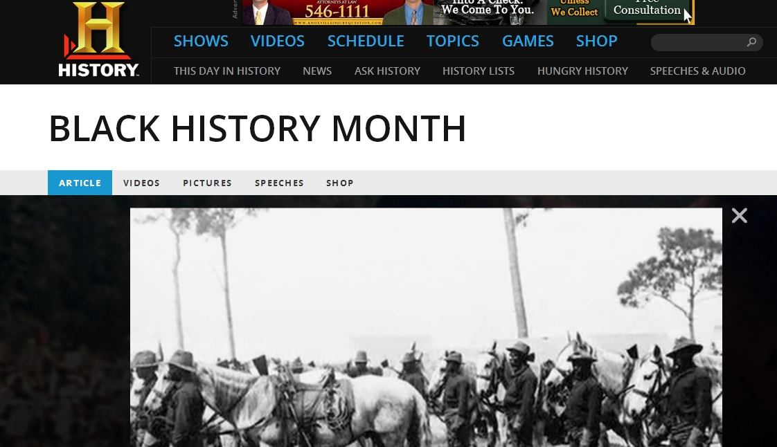Black History Month @The History Channel
