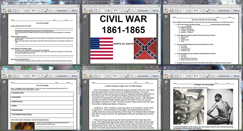 Cause and effect of civil war essay