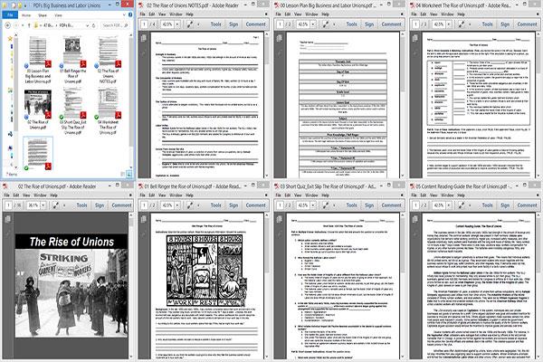 Big Business and Labor Unions Lesson Plan GILx06x11o47