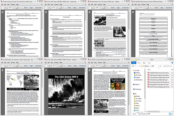 America Enters WW2 and Pearl Harbor Lesson Plan _WW2x04x09x88