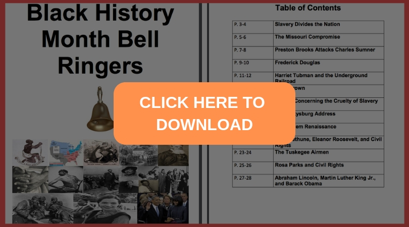 image about Free Printable Bell Ringers named Black Record Thirty day period Absolutely free Bell Ringers